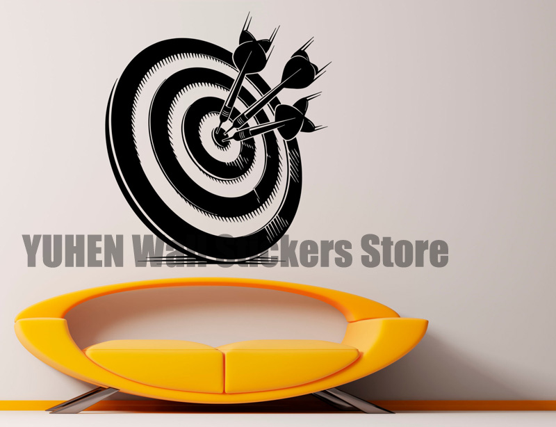 Creative Arrow Target Wall Stickers Projection Enthusiasts Sports Players Stickers  Bedroom Living Room Room Decoration Art