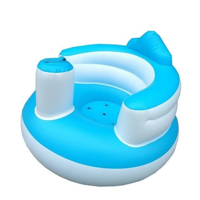 Sofá Inflável Assento do bebê Brinquedo Macio Infantil Aprender A Sentar Cadeira Manter Postura Sentada Cadeira Para 0-6 Meses banho do bebê de Natação