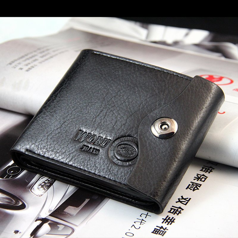 Men Wallets Design Magnetic Hasp Coins Pocket PU Leather Short Style Classic Personality Card Holder Purse Wallet Free Shipping cloud style magnetic key holder white