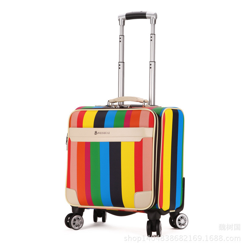 High Quality 16 inch Travel Suitcase Women Trolley Travel Bags Spinner Wheels Student Rolling Luggage Boarding Travel Luggage