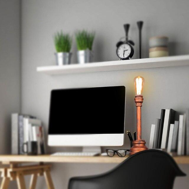 Desk Lamp E27 Coffee Table Light Bar Lamparas Loft Vintage Edison Bulb Table Lamps Water Pipe Light