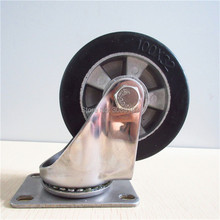 hot 4 inch stainless steel casters caster rubber wheel with aluminum center caster wheels цены