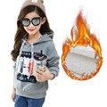 Niños Sudaderas Con Capucha y Las Camisetas Para Niñas Nuevo 2016 de La Moda de Algodón Gruesa Caliente Casual Niños Suéter de Los Niños Ropa de La Muchacha Outwears