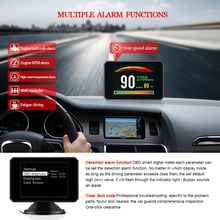 P16 3 Inch LCD HUD obd2 Car Head Up Display Auto Intelligent On-Board Computer Speedometerhud Electronics