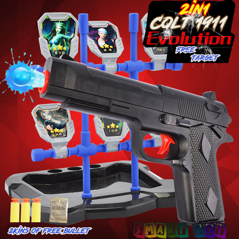 online shop 2in1 colt1911 paintball pistol wiht a free target can