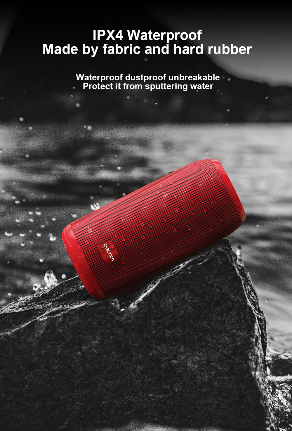 DACOM Q53 Mini Portable Bluetooth Speaker With Bass 3D Stereo Music Sub Woofer And TF Card Support 10