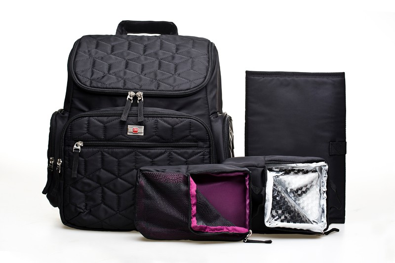 Free shipping New Brand Fashion High Quality Mummy Bag Argyle Checked Quilted Baby Diaper Nappy Bag 4pc/set Baby Stroller Bag champ collection ch 27019 6
