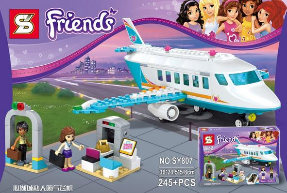 2016 new Friends series the Heartlake Private Jet model Building Block set Classic Compatible Lepin girl figures plane toys lepin 22001 pirate ship imperial warships model building block briks toys gift 1717pcs compatible legoed 10210