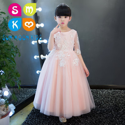 New Fluffy Tulle Ball Gown First Communion Dresses Long Sleeve Flower Girl Dress For Wedding Kids Long Prom Evening Gowns brazilian virgin full lace human hair wigs for black women glueless full lace front human hair wigs with baby hair full bangs