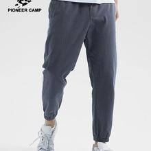 Пионерский лагерь, летние дышащие мужские штаны, хлопковые прямые брюки, модные, обычные, одноцветные, Мужские штаны AXX901196