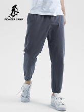 Pioneer Camp summer breathable Men Pants Cotton Straight Trousers Fashion Regular Fit Solid  Male AXX901196