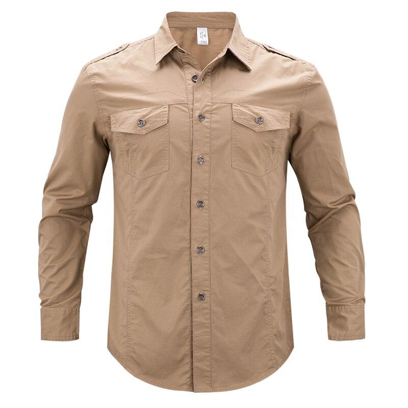 Men Shirts Tactical Military Shirt  Autumn Summer Fitness Long Sleeve Shirt Men's Cotton Shirts Casual Safari Clothes