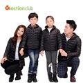 2015 nueva familia juego de madre e hija ropa chaquetas de invierno para la madre e hija de la familia look de invierno chaquetas abrigos KU826