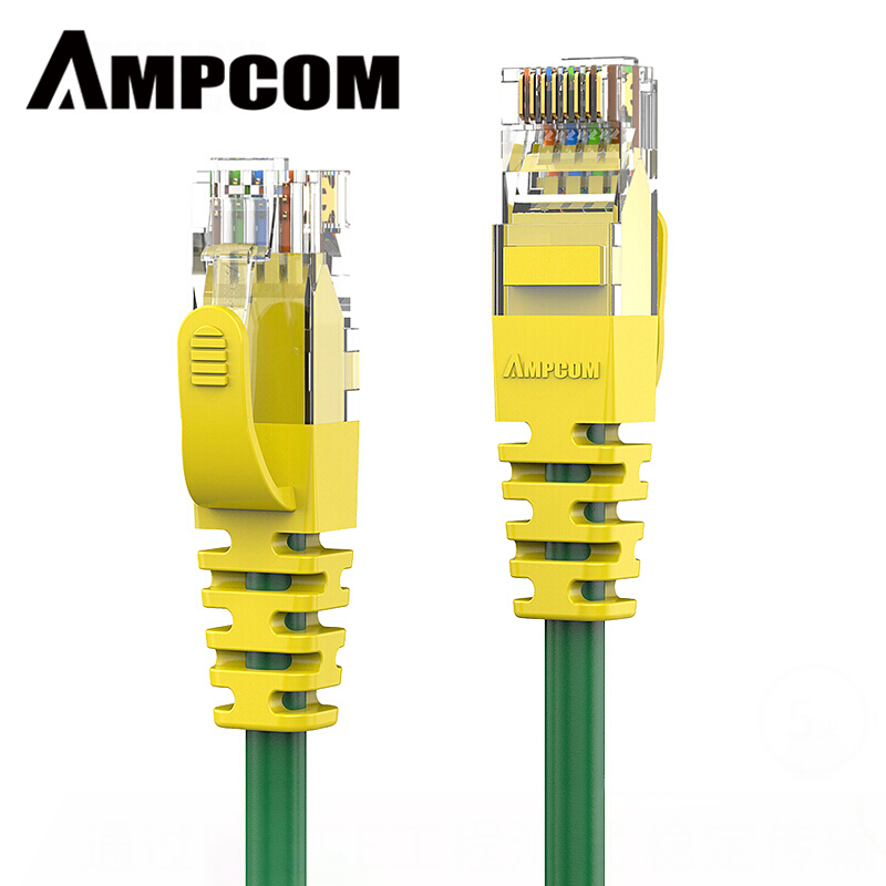 AMPCOM Ethernet Cable RJ45 Cat6 Lan Cable UTP CAT 6 RJ 45 Network Cable Patch Cord (1000Mbps 250Mhz 24AWG) For Desktop Computers