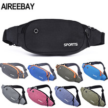 AIREEBAY Nylon Waist Pack Men Women Fashion Multifunction Fanny Pack Bum Bags Hip Money Belt Travel For Mobile Phone Bag Unisex(China)