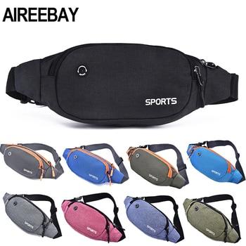 AIREEBAY Nylon Waist Pack Men Women Fashion Multifunction Fanny Pack Bum Bags Hip Money Belt Travel For Mobile Phone Bag Unisex