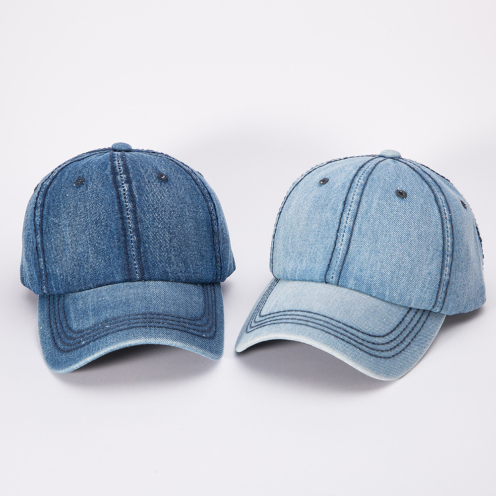 Hot Sell Women Adjustable denim Baseball Tennis Cap Outdoor Simple Sunshade Hip-Hop Hat Dropshipping 0824