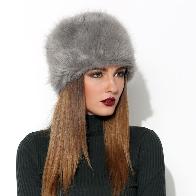 FURGAZI Fluffy Faux Fur Hat