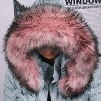2015 Autumn And Winter Women S Faux Collar Cap Fox Fur Big Collar Raccoon Fur Collar