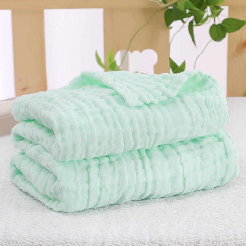 COSPOT, Toalla de baño de muselina para recién nacidos, bebés, 100% de algodón orgánico, 6 capas, manta de gasa, mantas para bebé, envolturas, 2020, novedad, 45