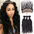 7A Brazilian Virgin Hair Natural Wave Lace Frontal With Bundles,13x4 Ear To Ear Lace Frontal Closure With Bundles No Shedding