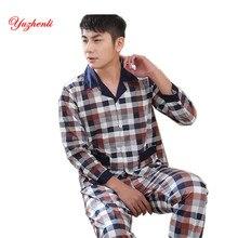 Yuzhenli осень-зима Для мужчин Пижамы для девочек дышащая сетка с длинными рукавами мужской пижамы для сна плюс Размеры L-3XL пижамы Мягкая домашняя одежда