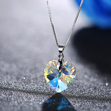 2018 BAFFIN Original Crystals From SWAROVSKI XILION Heart Pendant Necklaces Drop Earrings Jewelry Sets For Women Lovers Gift