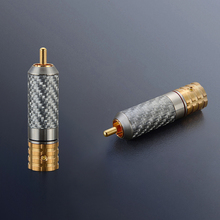 4PCS Viborg VR108G Pure Copper Carbon Fiber RCA Unsolder version screws locking 24K Gold plated