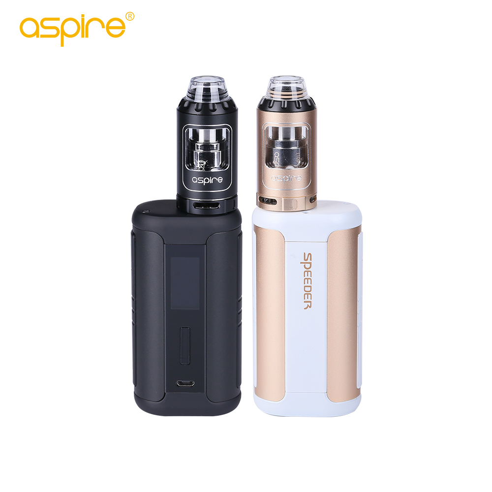 Original aspire Speeder Kit 200W Box Mod Vaporizer 4ml Athos Tank Atomizer VS aspire zelos electronic cigarette vape kit 100% original innokin mvp4 scion kit 100w 4500mah battery mod 3 5ml scion tank vaporizer vape hookah electronic cigarette kit