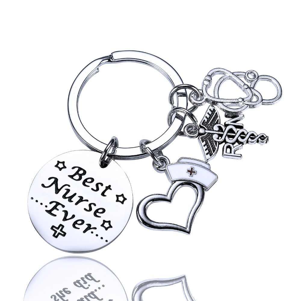 LPN RN Caduceus брелок медицинский брелок для медсестры подарок на выпускной брелок подарок для медсестры Женские Ювелирные изделия Подвески