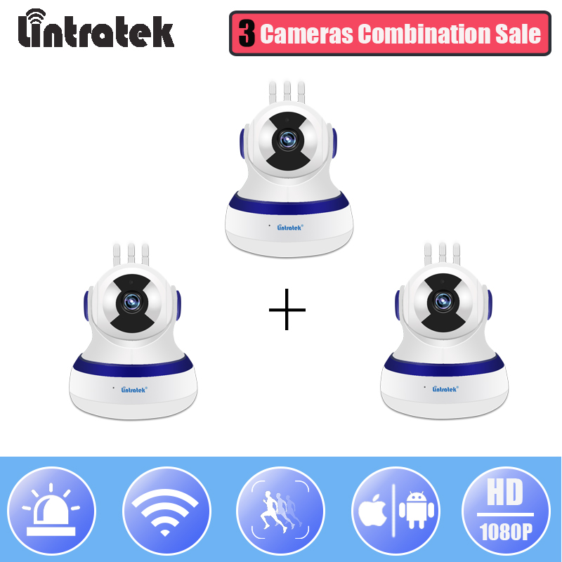 Lintratek HD 1080P IP Camera Wifi Mini CCTV Video Surveillance Cloud Storage Camera 3 in 1