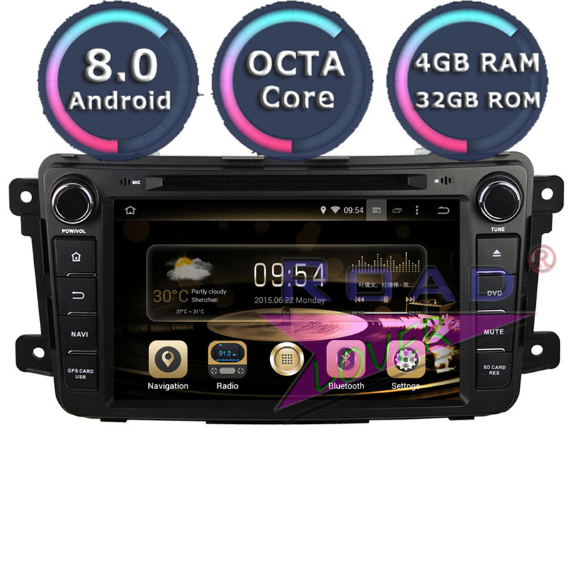Roadlover Android 9.0 Car DVD Player Autoradio For <font><b>Mazda</b></font> CX-9 2007- Stereo <font><b>GPS</b></font> <font><b>Navigation</b></font> Magnitol Double Din 7