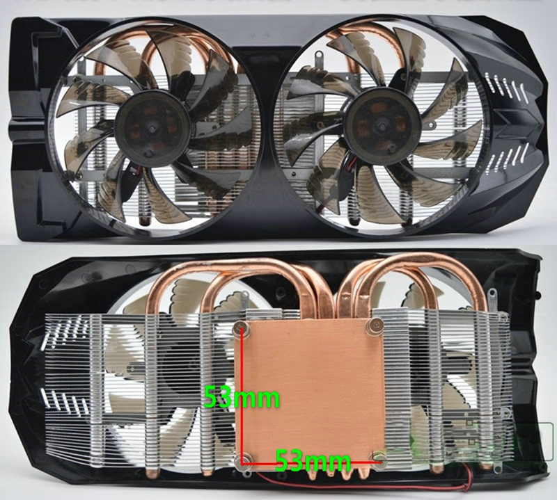 9cm 2pin fan graphics cards gtx 650 gtx 550 gts450 gts250 4 heatpipe graphics fan cooler for GPU gamer video card cooler vga cooler dual fan 9cm fan 4 heatpipe gtx980 970 r9 290 cooling for graphics card vga cooler fan 90mm coolerboss gfh 409 02