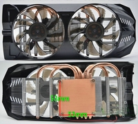 9cm 2pin fan graphics cards gtx 650 gtx 550 gts450 gts250 4 heatpipe graphics fan cooler for GPU gamer video card cooler