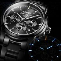luxury Nedss mens watch Swiss tritium Automatic Watch Chronograph Luminous 100M waterproof Mechanical Wristwatch reloj hombre