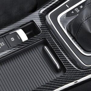Image 2 - Autocollants de voiture en fibre de carbone pour golf 7, modification dintérieur de la boîte deau, contrôle de la boîte de vitesses, bloc de vitesse, cadre décoratif brillant