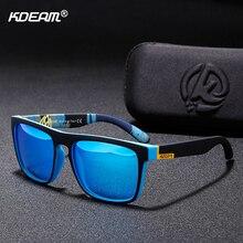 KDEAM Top-sale Polarized Sunglasses Men Women Brand Designer Sport Sun Glasses UV400 Color-match Goggles With Hard Case CE