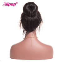 Malaysian Straight Wig 360 Lace Frontal Wig 150 Density Lace Front Human Hair Wigs ALIPOP Remy Lace front Wig With Baby Hair