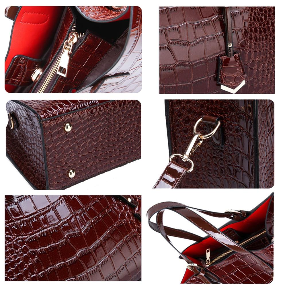 Elaborazione burgundy Femminile Spalla Top A All'ingrosso Borse Bags red Tote Bags Del Black Coccodrillo Dell'unità Commercio Casual Signore handle Le Tracolla Dell'annata Di Per Delle Donne Bags Cuoio wf7F6