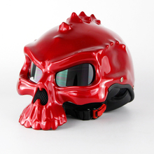 Woman Red Masei Skull Motorcycle Helmet Capacete Casco Retro Casque Motorbike Half Face Helmet