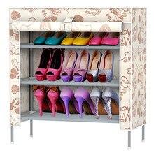 Simple four three grid storage shoe Korean multi-function multilayer woven rack