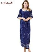 Fdfklak 2018 летняя Ночная рубашка ночные сорочки для женщин спальное платье хлопок женские ночные рубашки плюс размер пижамы Q1005
