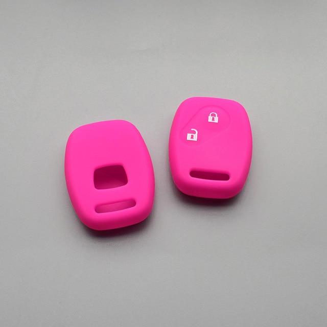 Clé à 2 boutons pour Honda Civic Fit   Caoutchouc de voiture StepWGN, porte-clés de voiture, porte-clés de coque