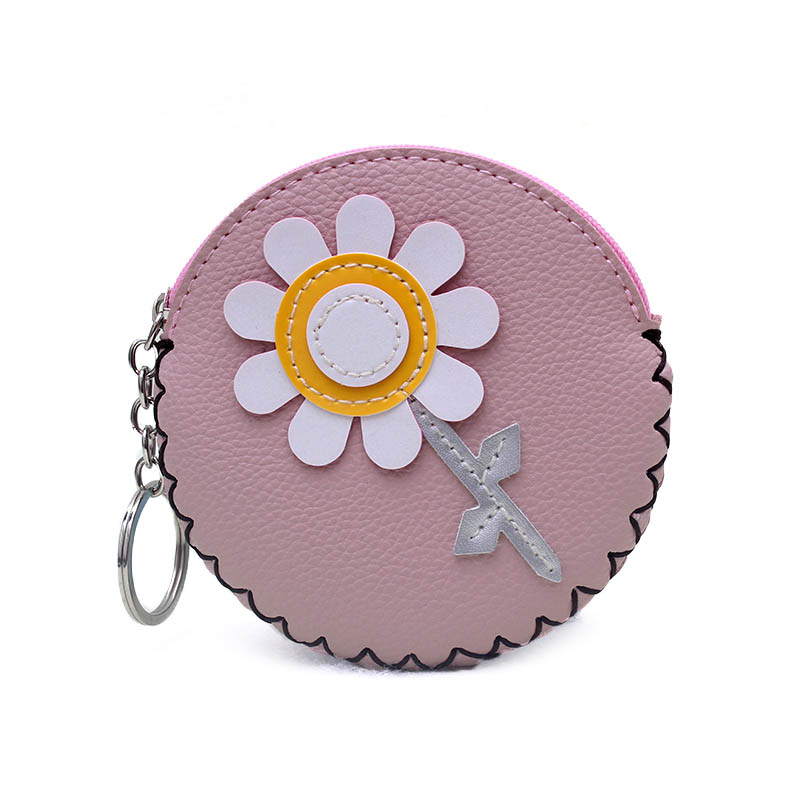 New 2018 Cute Flower PU Leather Coin Purse Women Handmade Zipper Change Purse Wallet Girls Pouch Small Money Bag For Kids Gift 2017 new fashion women owl cute pu leather change purse wallet bag girls coin card money pouch portable purse small bag jan12