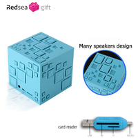 New Gift Mini Magic Cube Colorful Wireless Portable Bluetooth Speaker with TF Card Handsfree