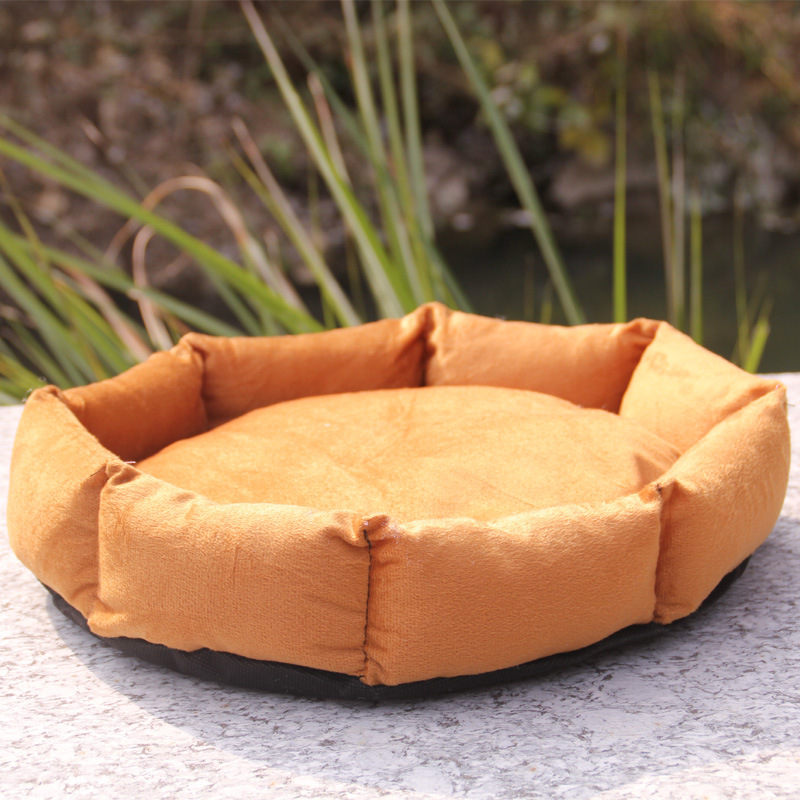 Kennel Cat Litter Pet Supplies Puppy Dog Cotton Nest Kitten Octagonal Beds Products Cushion