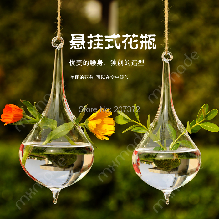2pcslot Clear Air Plant Hanging Glass Vase Creative Home