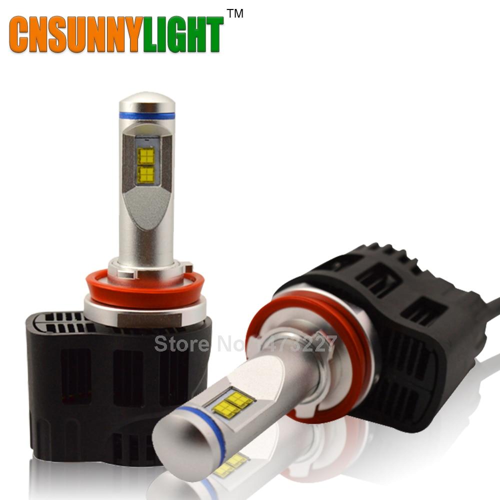 CNSUNNYLIGHT H11 9005 HB3 9006 HB4 H4 H7 LED 110 W 10400LM/paire Phare De Voiture Canbus Kit 5000 K 6000 K Remplacer Auto Projecteur ampoules