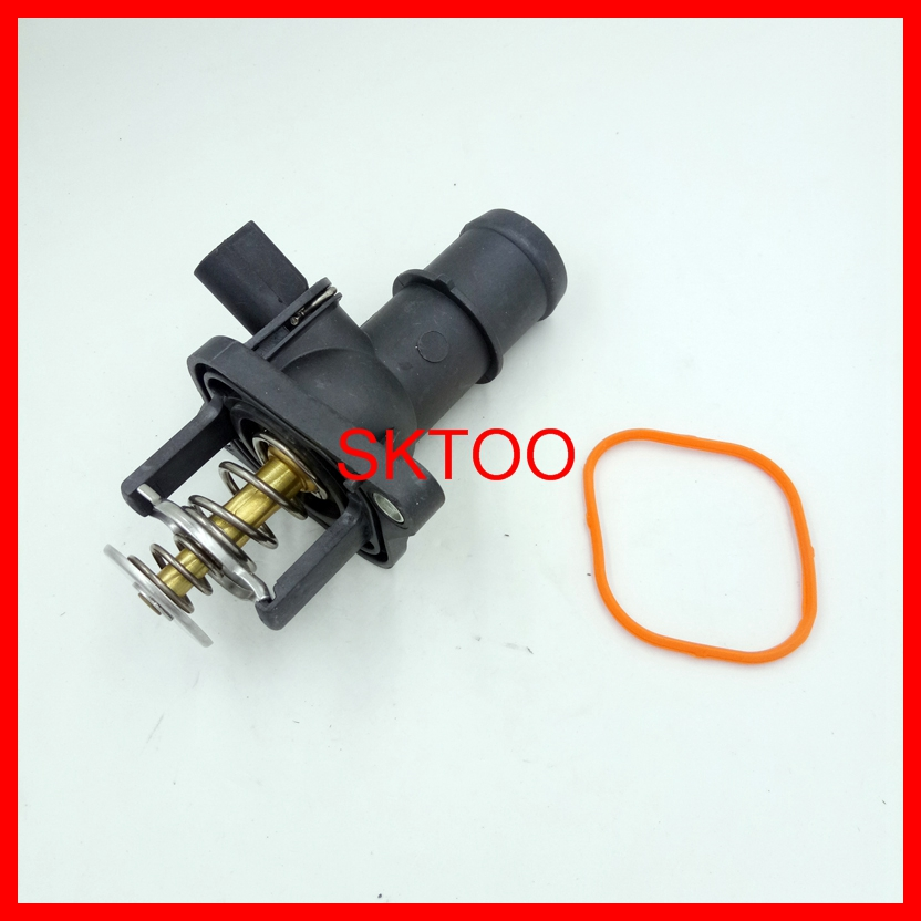 06A12114,06A 121 114 For Audi A3 Seat Leon Skoda VW Bora Polo Golf Mk4 1.6 (1997-2005) Thermostat Housing With Sensor