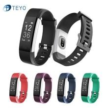 Teyo Спорт Смарт Браслет ID115HR плюс сердечного ритма Мониторы Smart Band Фитнес трекер Smart Браслет Смарт часы для Android IOS